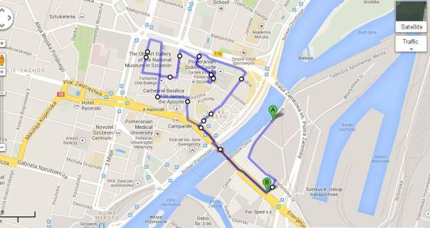 triathlon szczecin trasa biegu