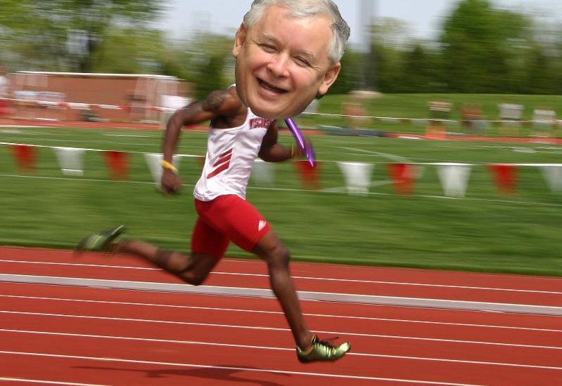 jarosław kaczyński biegacz
