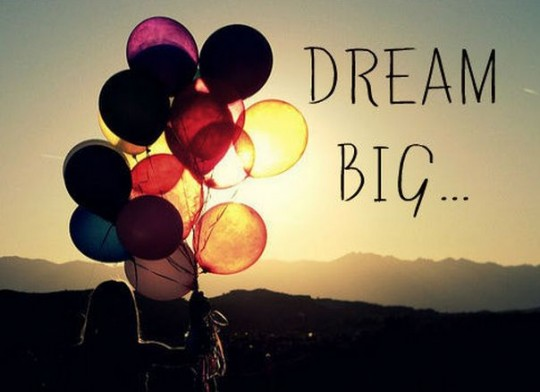 postanowienia noworoczne dream big