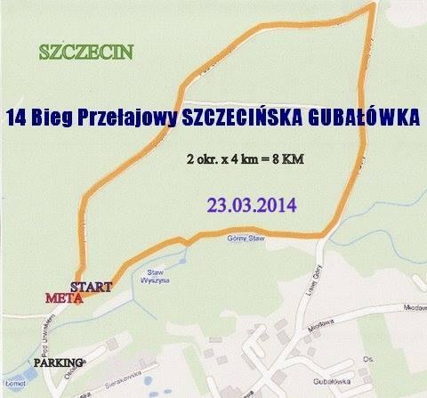 szczecińska gubałówka bieg przełajowy mapka trasy