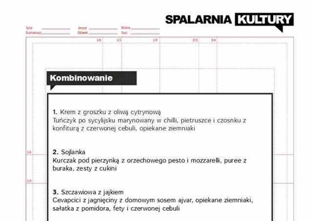 spalarnia menu
