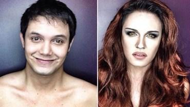 Nie tylko kobiety lubią makijaż! Zobacz, co wyprawia ten facet!