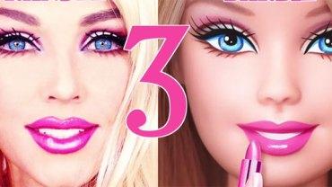W niecałą minutę ze zwykłej dziewczyny zmieniła się w żywą lalkę Barbie! Myślisz, że to niemożliwe? A jednak!