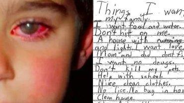 Pobity 5-latek wraca do domu i pisze list. Jego treść porusza do głębi i otwiera oczy na pewne sprawy!