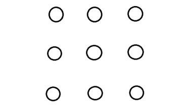 Krótki test na inteligencję. Za pomocą 4 kresek spróbuj połączyć wszystkie kropki