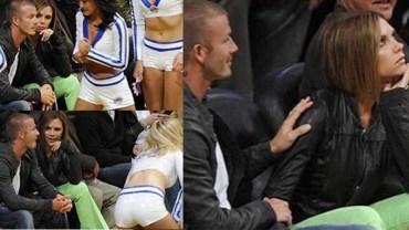 Niezręczne momenty par celebrytów złapane przez kamery. Mina Victorii mówi wszystko!