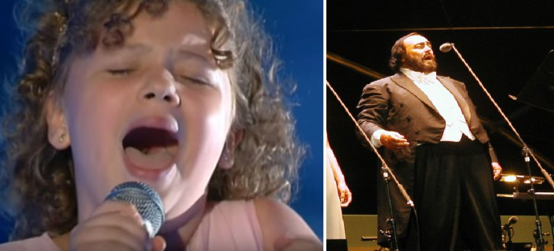 You can't deceive your genes. Here is the 12-year-old granddaughter of the famous singer Luciano Pavarotti, who evidently inherited the talent from her grandfather 3