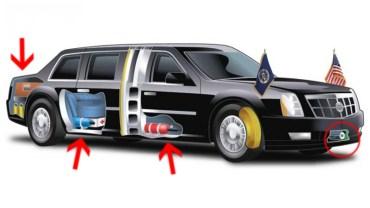"""Zaskakujące fakty na temat """"Bestii"""" – opancerzonego samochodu, którym porusza się Donald Trump!"""