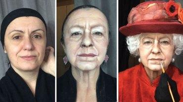 Lucia Pittalis jest tak utalentowaną wizażystką, że maluje portrety sławnych ludzi na… własnej twarzy!