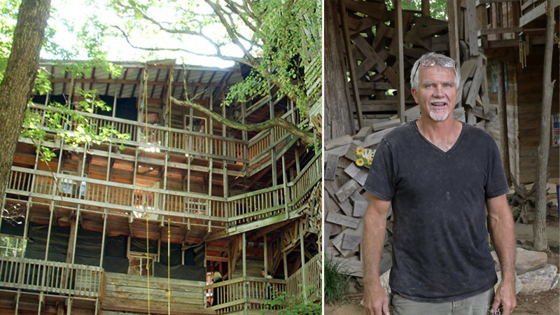 It took Horace 15 years to build the largest tree house. The wooden house has 10 floors. 2