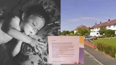 Życzliwi sąsiedzi podrzucili jej do ogrodu list. Gdy go przeczytała jej oczy zalały się łzami. Wszystko, przez to, że jej mały synek jest chory!