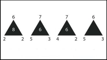 Jakiego numeru brakuje w ostatnim trójkącie? Odpowiedź na to pytanie zna zaledwie 3% osób mierzących się z tą zagadką!