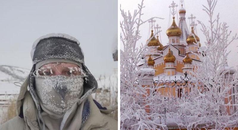 Narzekacie na zimno i śnieg? Przestaniecie gdy zobaczycie, jak żyje się w najzimniejszym miasteczku na Ziemi, gdzie temperatura spada do minus 62 ℃!