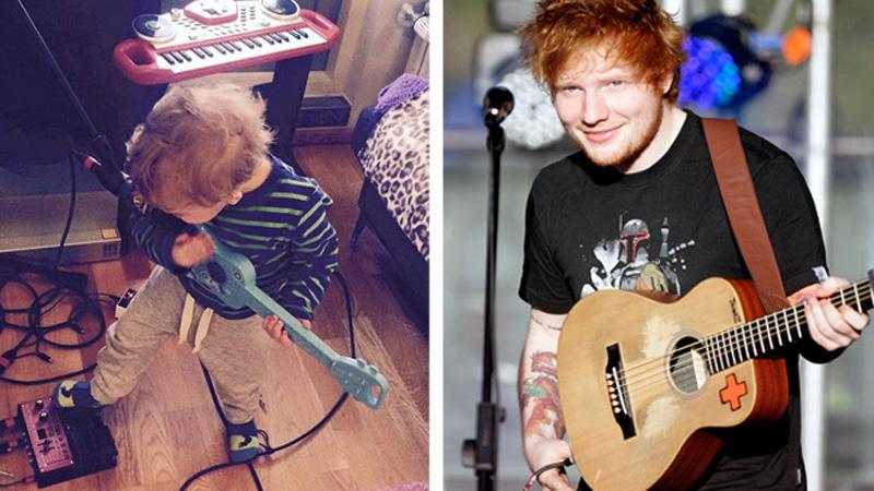 Nagrał cover piosenki Eda Sheerana, ale cały show skradł mu uroczy 2-latek! To trzeba zobaczyć!