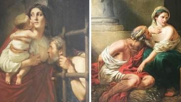 Za paskudnym obrazem kobiety karmiącej piersią starca, kryje się bolesna historia. Spojrzysz na ten obraz zupełnie inaczej