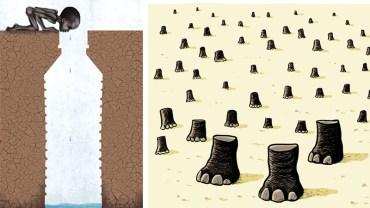 12 prowokujących do myślenia ilustracji od Cartoon Movement. Pokazują więcej niż byśmy chcieli