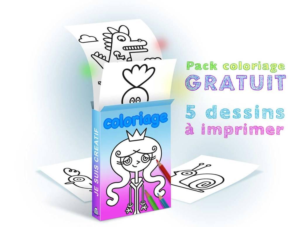 Coloriage A Imprimer Dans Ce Pack Gratuit De 5 Dessins Je Suis Creatif