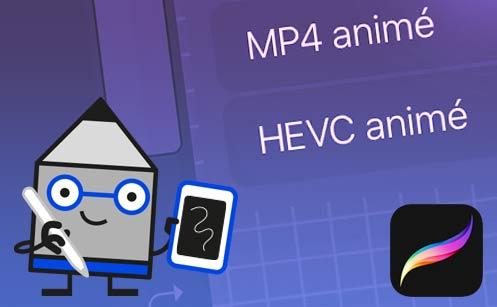 HEVC animé sur Procreate