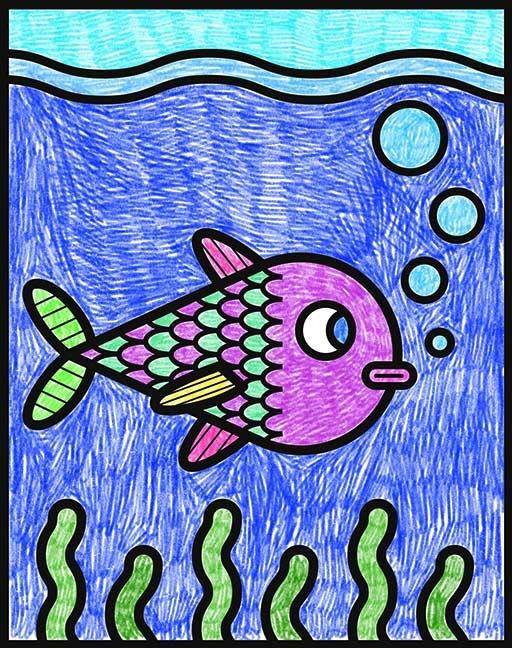 dessin poisson à colorier