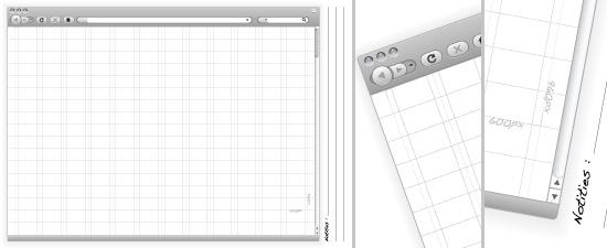 Web Design Sketchbook Fenêtre Pleine Page