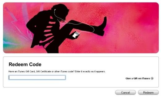 Appstore - Redeem un code