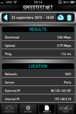 IMG 0084 - Testez le débit de votre connexion mobile avec Speedtest.net Mobile !