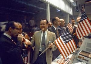 Le centre de contrôle de la mission Apollo 11