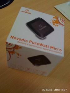 Packaging de la batterie d'appoint Novodio PureWatt Micro