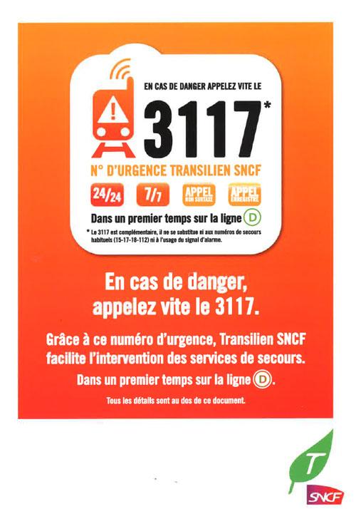 3117page1 - 3117, le numéro d'urgence du transilien SNCF