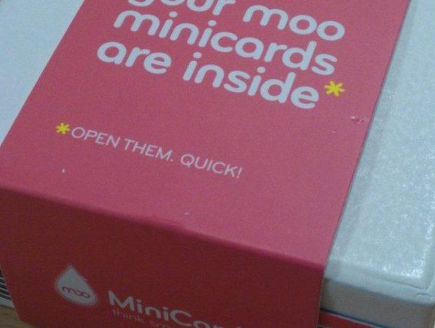 Les MiniCards de Moo sont arrivées ! - Le packaging