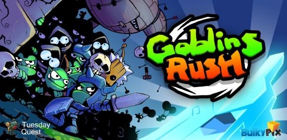 Ecran de lancement du jeu Goblins Rush