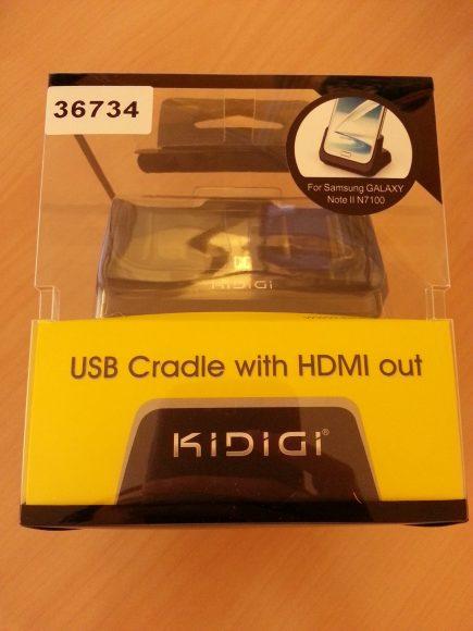 Test du dock HDMI pour Samsung Galaxy Note 2 avec ou sans coque.