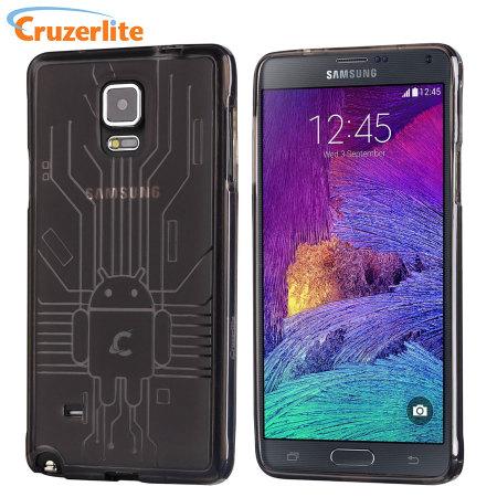 Test de la coque Cruzerlite Bugdroid Circuit Noire Fumée pour Samsung Galaxy Note 4 1