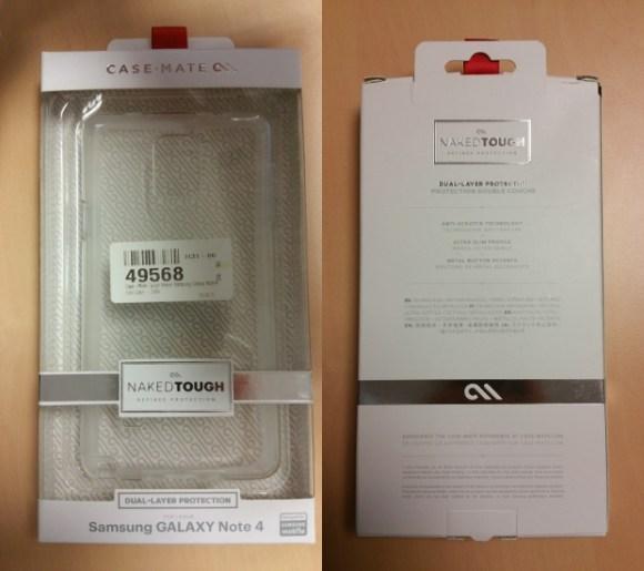 Emballage de la coque Case-Mate Naked Tough pour Samsung Galaxy Note 4