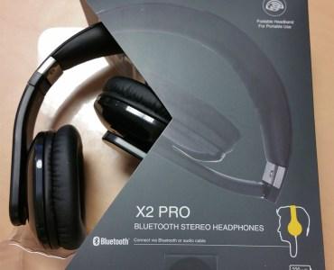 Boite du casque stéréo bluetooth Olixar X2 Pro