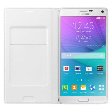 flip cover in - Test de la flipcover wallet officielle pour Samsung Galaxy Note 4 blanche