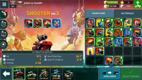 Battle Bay - le Shooter et ses caractéristiques
