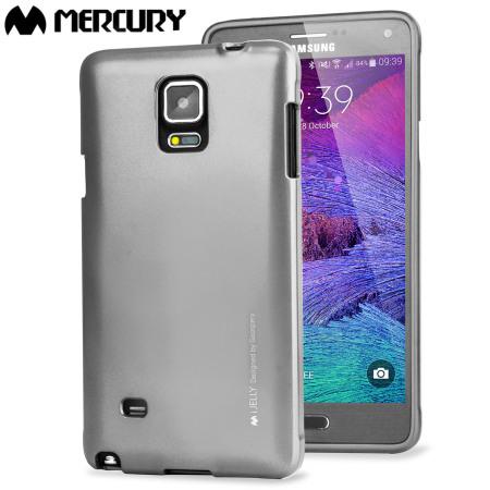 Coque Mercury Goospery iJelly Gel Argent Métal pour Samsung Galaxy Note 4