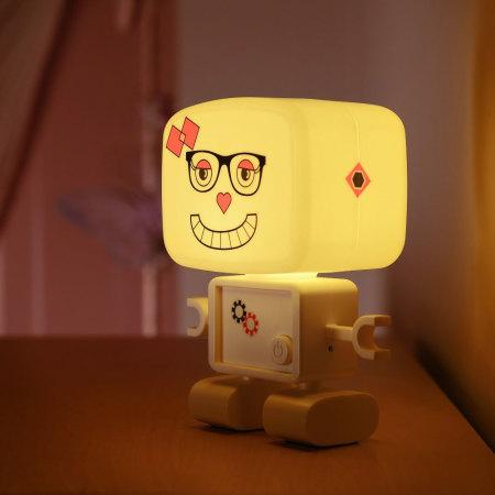 Lampe Veilleuse AGL RoboGlow rechargeable avec son