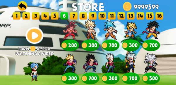 Dragon Ball Power Warrior Apk mod