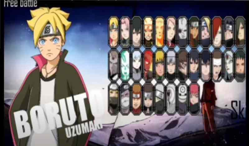 Naruto Senki Mod two side Apk