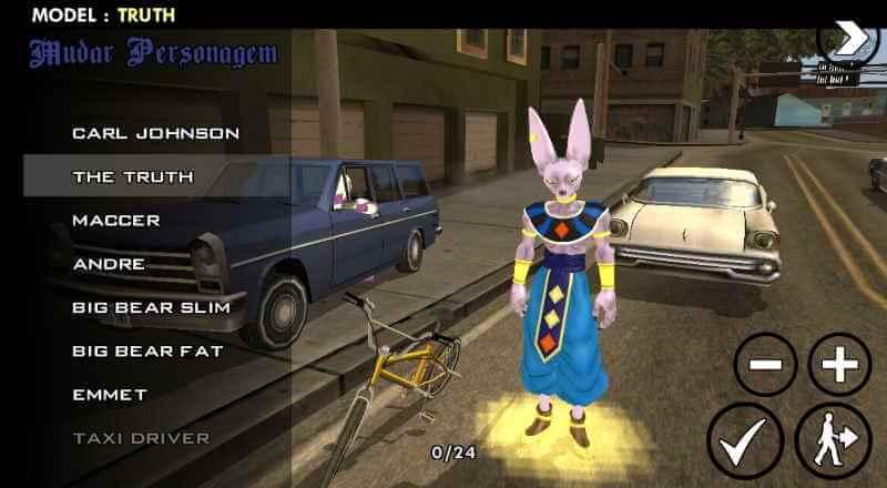 Dragon Ball san Andreas un juego único