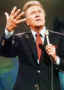 Oral Roberts, the same guy who said God told him to raise $8 million for his own school, or else.