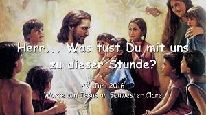 Worte von Jesus an Schwester Clare