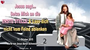 jesus an erster stelle