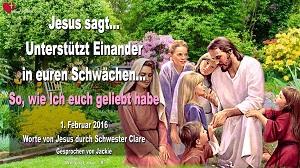 Worte von Jesus durch Schwester Clare