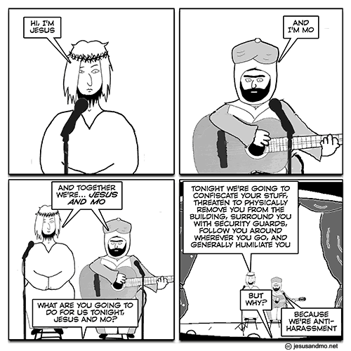 Jesus and Mo harassment