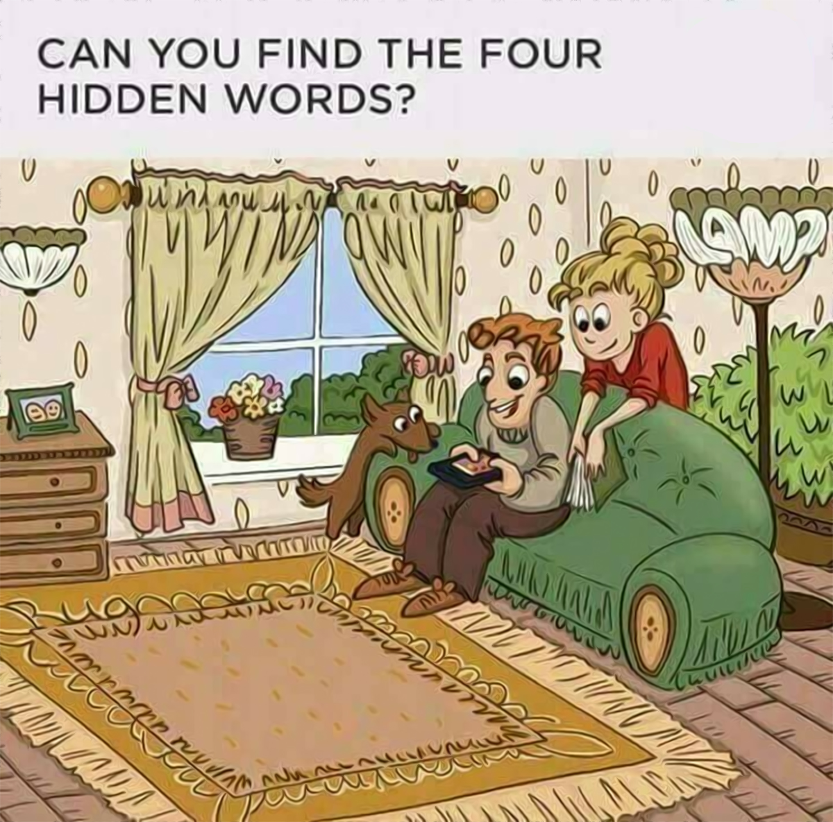 Can You Find The 4 Hidden Words In This Picture