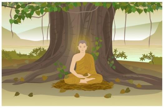 Buddha ist im Wald verschwunden