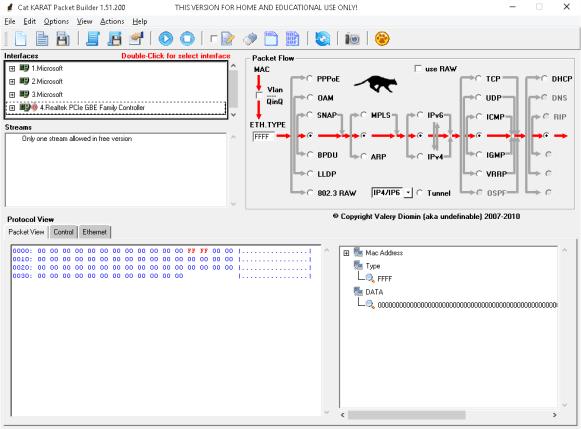 Cat Karat Packet Builder